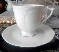 Hutschenreuther Victoria fehér dombormintás porcelán csésze