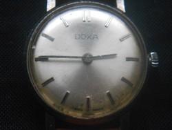 1967-es Doxa női karóra, hibátlanul működik, jelzett felhúzó, sorozatszámos hátlap, bőrszíj