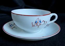 Tojáshéj porcelán madárkás teás/kávés szett
