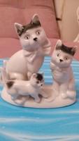 Porcelán cica család cica gyűjtőknek német Lippensdorfi