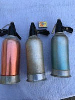 3 darab Retro Antik szódás szifon - Magyar - Made in Hungary