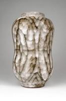 0Z054 Retro kerámia iparművészeti váza 19.5 cm
