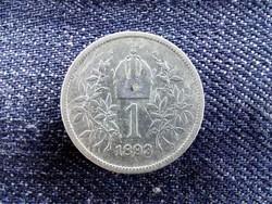 Ausztria Osztrák-Magyar .835 ezüst 1 Korona 1893 / id 9154/