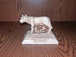 OLCSÓN! RÓMÁBÓL ROMULUST  és REMUST szoptató   nőstényfarkas szobor