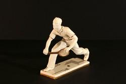 Schlaggenwald Art Deco Teniszező Figura Versenydíj Ritka! Limitált Széria 17x15cm