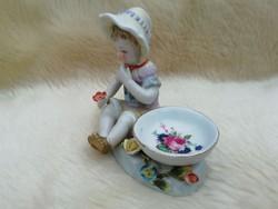 Antik porcelán gyűrűtartó