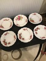 Zsolnay antik rózsás tányérok! Gyönyörűek!