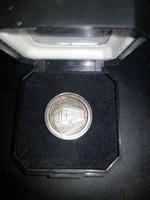 Budapest Bank Részvénytársaság Alapítási Emlékérem. Ezüst, finomsága 999/1000, súlya: 15,50 g