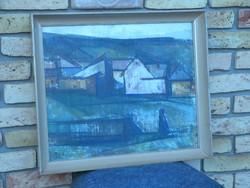 Ficzere László: Kőporos házak című festménye eladó
