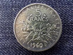 Franciaország .835 ezüst 5 Frank 1960 / id 13907/