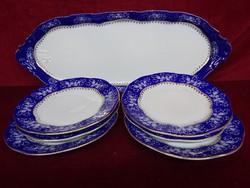 Zsolnay porcelán ponpadour 2-es süteményes készlet, 7 darabos.
