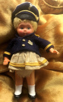 Bécsi matrózbaba eredeti hajjal.20cm