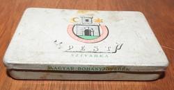 Régi fém szivar tartó doboz - Pest Szivarka doboz