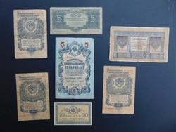 Oroszország 6 darab rubel + 1 kopek LOT !!!