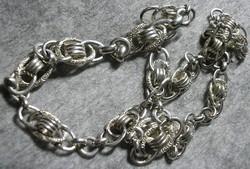925 ezüst nyaklánc, egyedi kézművesmunka a 1930 tájáról.