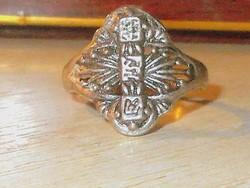 Békesség a Szeretetben Keleti írásjelű Tibeti ezüst Gyűrű 7.5 -es