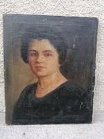 Antik olaj-vászon női portré festmény