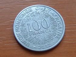 NYUGAT AFRIKAI ÁLLAMOK 100 FRANK FRANCS 2012 #