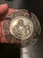 Régi áttört ezüst medalion eladó!Ara:29000.-