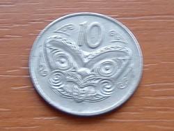 ÚJ-ZÉLAND NEW ZEALAND 10 CENT 1974 MAORI MASZK #