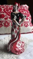 Porcelán spanyol táncosnő
