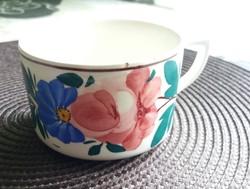 Virágmintás Kispesti bögre,csésze. 6 cm.