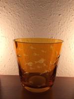 Exlusive Carl Rotter konyakszínű kristály pohár gyönyörű állapotban gyűjtőnek