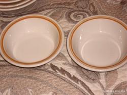 Retro kompotos tányér párban