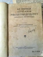 Dr.Menyhárt Gáspár:Az Osztrák általános polgári törvénykönyv/1914