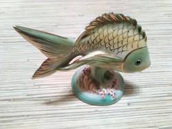 Kézzel festett Drasche porcelán hal