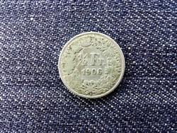Svájc .835 ezüst 1/2 Frank 1906 B / id 13954/