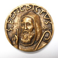 Szent Benedictus,Miletics Katalin Janka plakett.