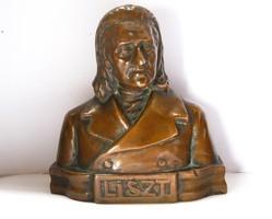 Régi,bronz, Liszt Ferenc szobor.