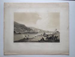 Keleti Gusztáv: Tokaj. Litográfia az eredeti(!) Tokaj-hegyaljai albumból (Pest, 1867)