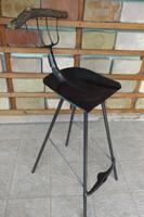MKovács-Manó alkotás Retro Lapát szék Loft ipari industrial vas bútor lapát bárszék vintage