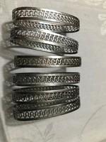 Nagyon szép elegáns ezüst szalvéta gyűrű 6 db