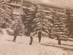 Régi képeslap 1954 Kékestető