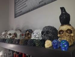 Faragott asvany koponya gyűjtemény egyben (eltérő súlyú és méretű)