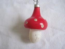 Üveg gomba karácsonyfadísz 5 cm