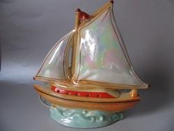 Retro porcelán vitorlás (hangulatlámpa)