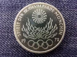Németország 1972-es müncheni olimpiai játékok .625 ezüst 10 Márka 1972 F / id 14165/