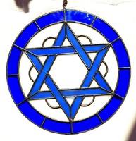 Antik Judaika Tiffany üveg albak kép