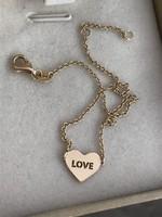 Arany 14k 585 modern karlánc LOVE felirattal szivecskevel