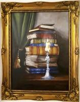 Szilárd Anikó: Esti versek 30x40cm  akril, vászon + ajándék keret!