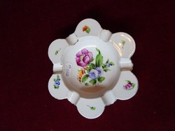 Herendi porcelán hamutál, virágmintával,  átmérője 14,5 cm.