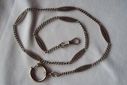 Régi szép ezüst zsebóra lánc