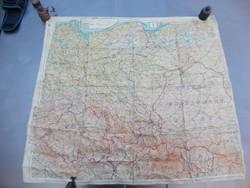 Katonai repülő selyem térkép, 2. vh 1944 - Germany protekt.