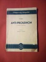 Karl Marx: Anti-Proudhon ( A filozófia nyomorúsága )
