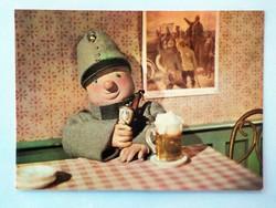 Retro Svejk báb mese képeslap