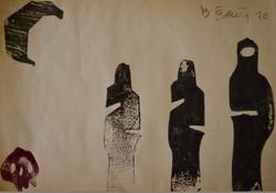 Bálint Endre (1914-1986): Sorban állók 2.